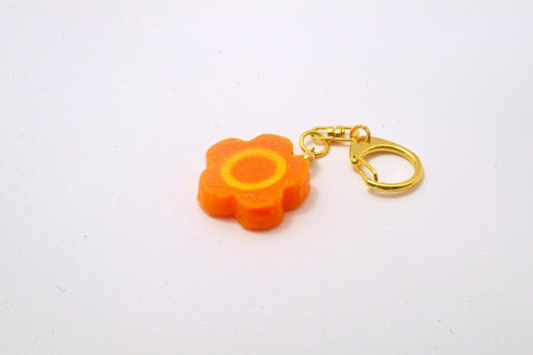 Flower-Shaped Carrot Ver. 1 Keychain