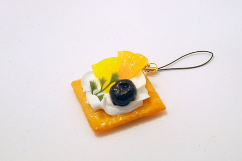 Fruits Topped Cookie Cell Phone Charm/Zipper Pull