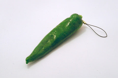 Green Chili Pepper Cell Phone Charm/Zipper Pull