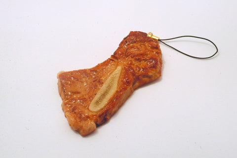 Grilled Chuck Steak with Bone Cell Phone Charm/Zipper Pull