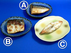 Grilled Mackerel, Baked Mackerel & Grilled Righteye Flounder Replica - Fake Food Japan