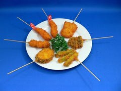 Kushi Katsu (Deep Fried Seafood, Meat & Vegetable Skewers) Replica - Fake Food Japan