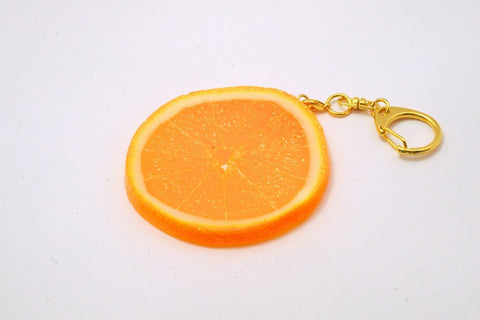 Orange Slice Keychain