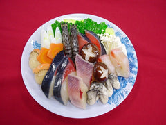 Seafood Nabe (Hotpot) with Assorted Vegetables Replica - Fake Food Japan