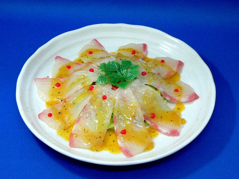 Sliced Red Pacific Sea Bream Replica
