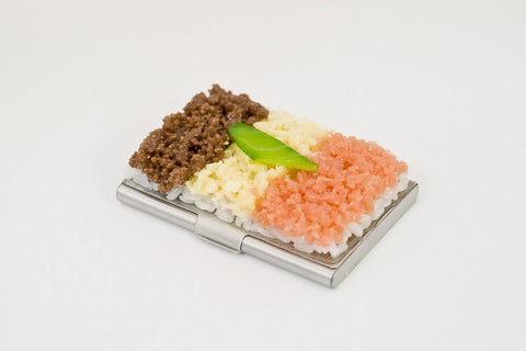 Soboro (Soy Sauce Minced Meat) Rice Business Card Case