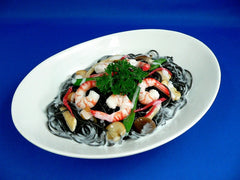 Spaghetti with Squid Ink Cream Sauce Replica - Fake Food Japan
