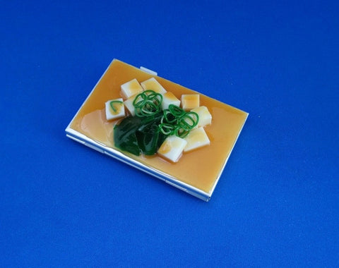 Tofu Miso Soup Business Card Case