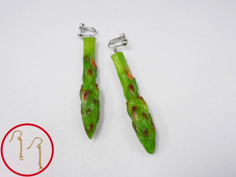 Asparagus Pierced Earrings