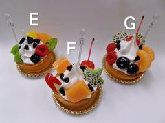 Assorted Fruit Tart Small Size Replica - Fake Food Japan