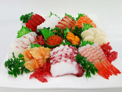 Assorted Sashimi (Raw Fish) Replica