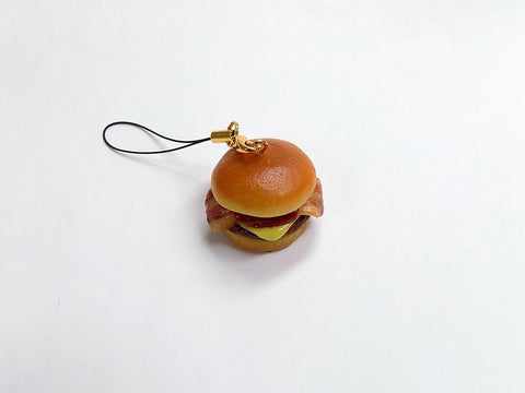Bacon & Cheese Burger Cell Phone Charm/Zipper Pull