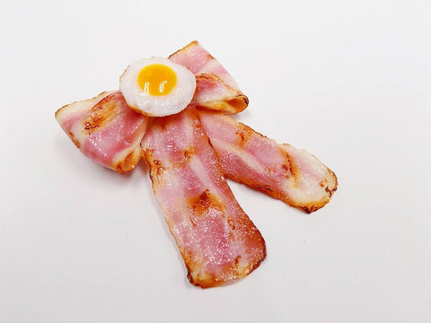 Bacon & Egg (Ribbon-Shaped) (large) Hair Clip