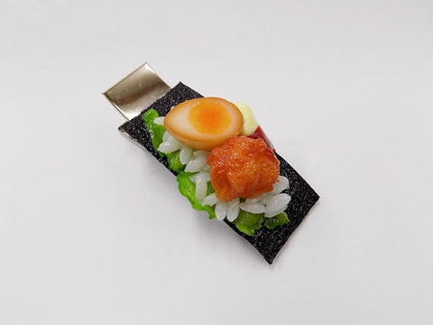 Boiled Egg in Soy Sauce & Kara-age (Boneless Fried Chicken) (large) Hair Clip