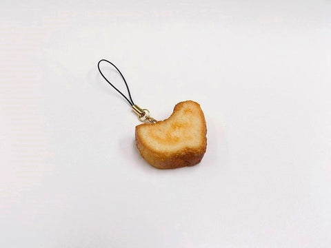 Bread (Heart-Shaped) Cell Phone Charm/Zipper Pull