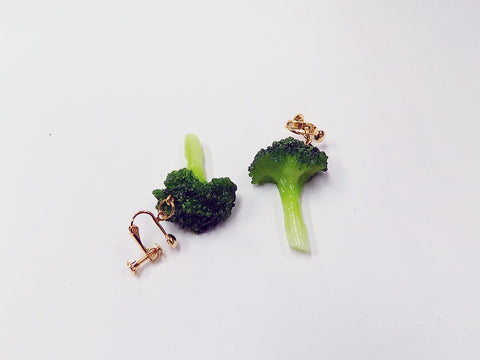 Broccoli (small) Clip-On Earrings