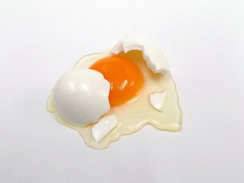 Broken Raw Egg Magnet