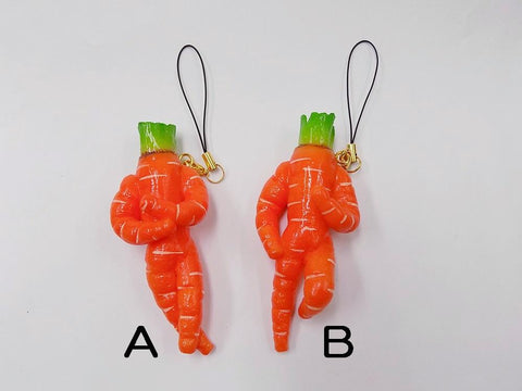 Carrot Ver. 2 (B) Cell Phone Charm/Zipper Pull