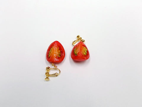 Cherry Tomato (quarter-size) Clip-On Earrings
