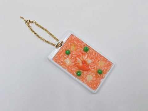 Chicken Rice with Shrimp Pass Case with Charm Bracelet