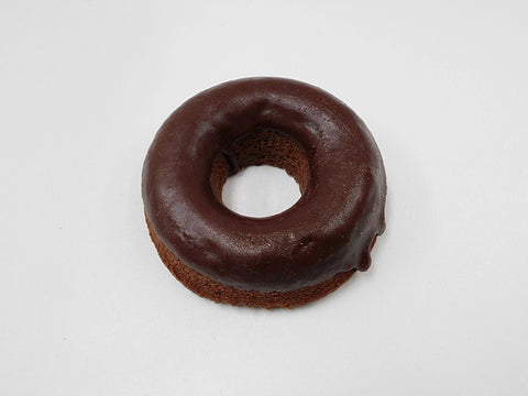 Chocolate Frosted Chocolate Doughnut Magnet