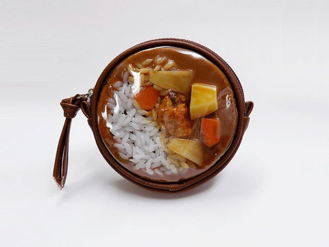 Curry Rice Circular Purse