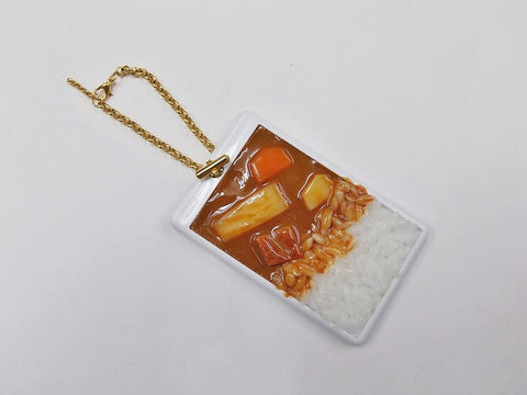Curry Rice Pass Case with Charm Bracelet