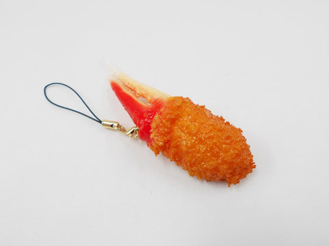 Deep Fried Crab Claw Cell Phone Charm/Zipper Pull