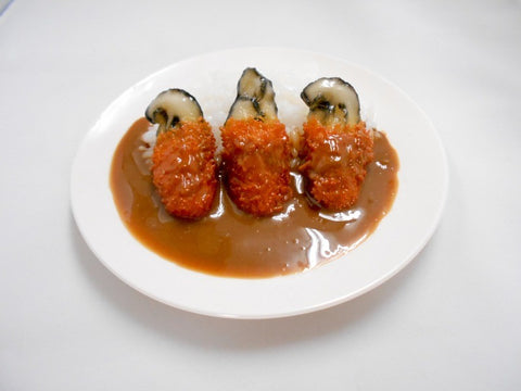 Deep Fried Oyster Curry Rice Small Size Replica