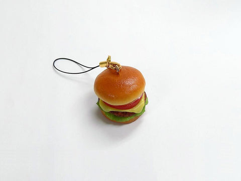 Deluxe Burger Cell Phone Charm/Zipper Pull
