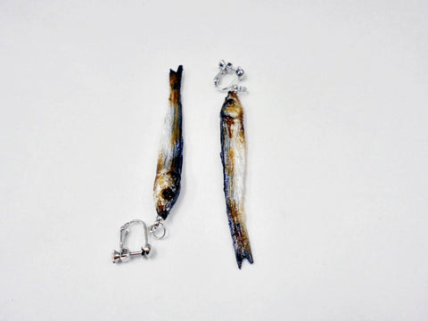 Dried Sardine (small) Clip-On Earrings