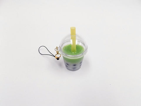 Green Tea (Matcha) Tapioca Drink (mini) Cell Phone Charm/Zipper Pull
