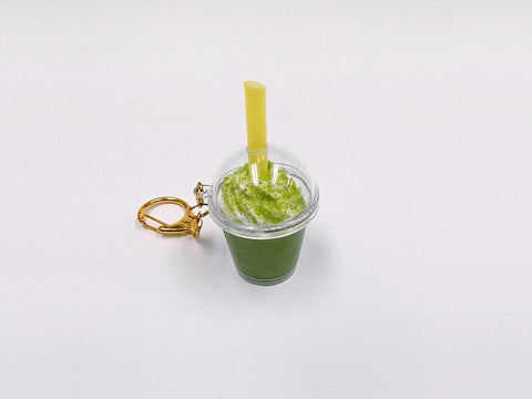 Green Tea (Matcha) with Whipped Cream (mini) Keychain