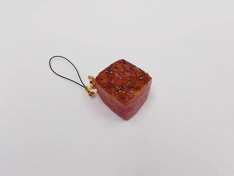Grilled Steak (Dice-Shaped) Cell Phone Charm/Zipper Pull