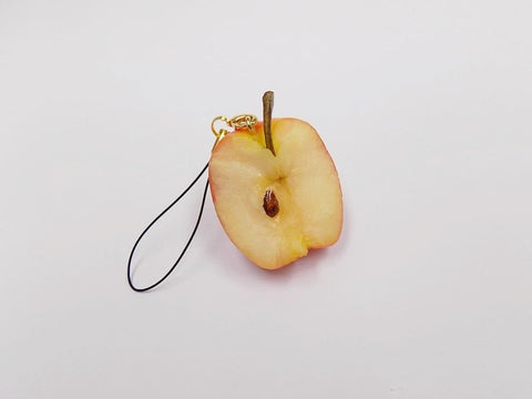 Half-Eaten Apple Cell Phone Charm/Zipper Pull