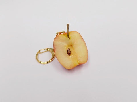 Half-Eaten Apple Keychain