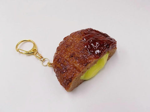 Hamburger Patty (Cheese-Filled) Keychain