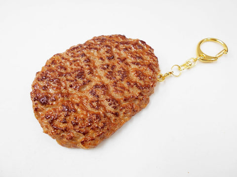 Hamburger Patty (large) Keychain