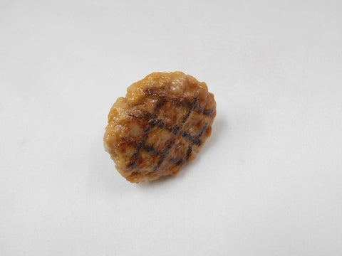 Hamburger Patty with Grill Marks Plug Cover