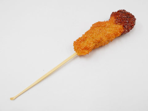 Kushi Katsu (Deep Fried Meat Skewer) with Sauce Ear Pick