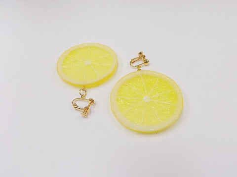 Lemon Slice Clip-On Earrings