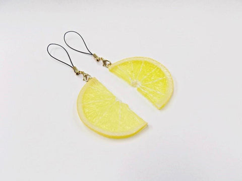 Lemon Slice (half-size) Cell Phone Charm/Zipper Pull