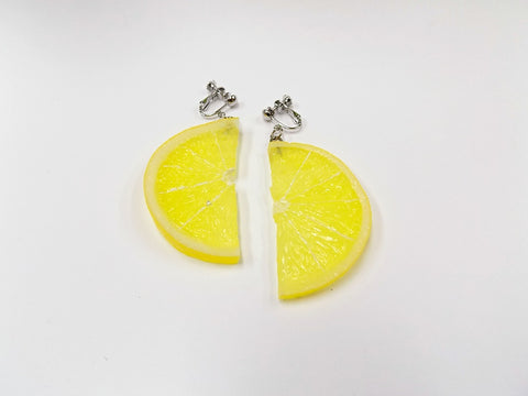 Lemon Slice (half-size) Clip-On Earrings