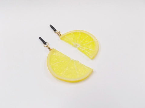 Lemon Slice (half-size) Headphone Jack Plug