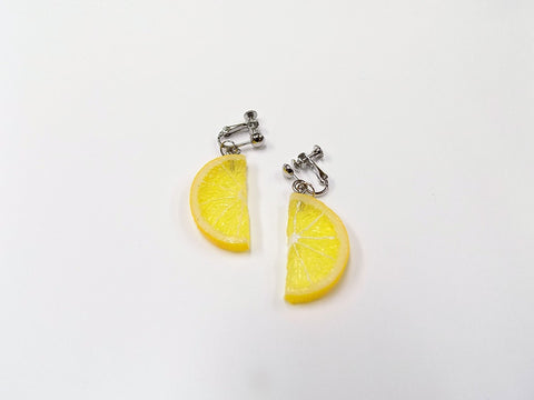 Lemon Slice (half-size small) Clip-On Earrings