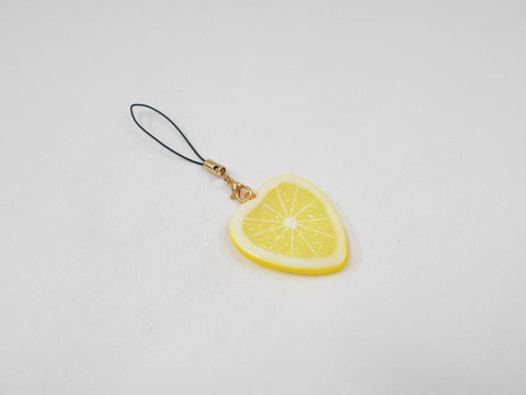 Lemon Slice (Heart-Shaped) Cell Phone Charm/Zipper Pull