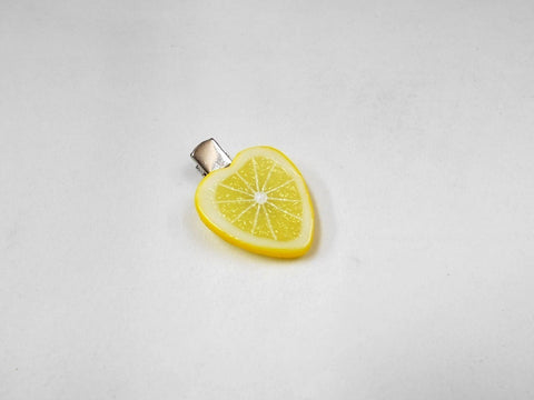 Lemon Slice (Heart-Shaped) Hair Clip