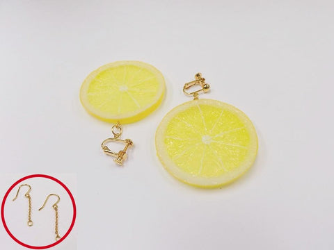 Lemon Slice Pierced Earrings