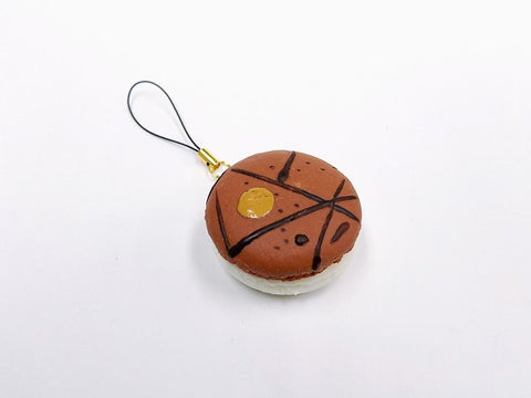 Macaron (brown coconut) Cell Phone Charm/Zipper Pull
