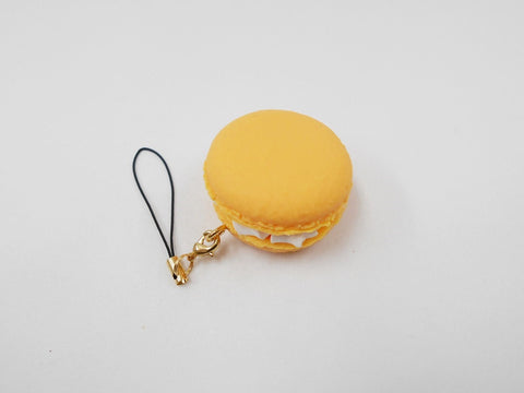 Macaron (orange) Cell Phone Charm/Zipper Pull